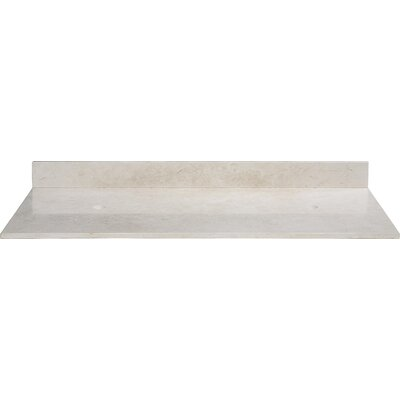 61 Marble Vanity Top for Vessel Sinks with Backsplash Top Finish: Galala Beige