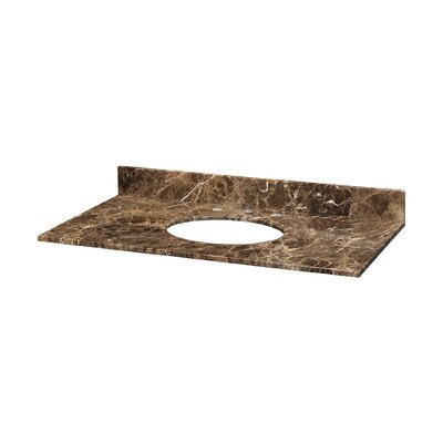 Hollifield Stone Specialty Undermount Bathroom Sink Width: 49, Finish: Brown and Black