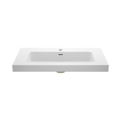 Rectangular Drop-In Bathroom Sink with Overflow
