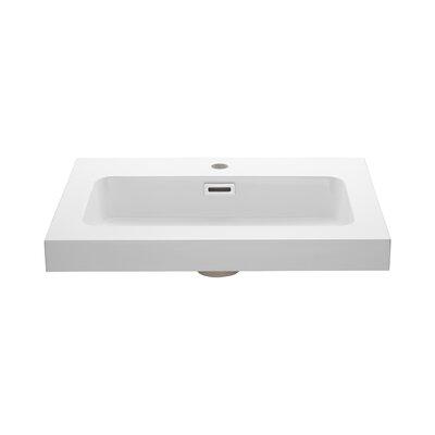 Rectangular Drop-In Bathroom Sink with Overflow