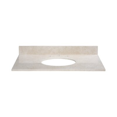 37 Marble Vanity Top for Undermount Sink with Backsplash Top Finish: Galala Beige