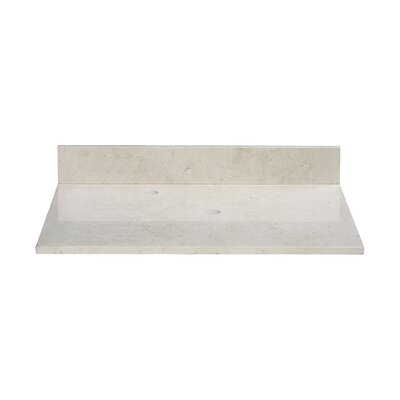 49 Marble Vanity Top for Vessel Sink with Backsplash Top Finish: Galala Beige