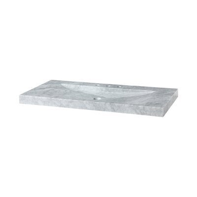Marble 48 Vanity Top with Integrated Bowl Top Finish: Carrera White