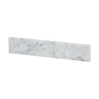 Vanity Top Side Splash Finish: White Carrara Marble
