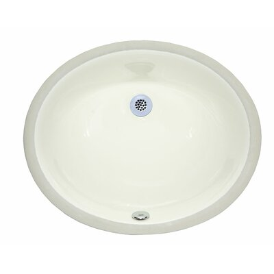 Hollifield Ceramic Oval Undermount Bathroom Sink with Overflow Sink Finish: Linen