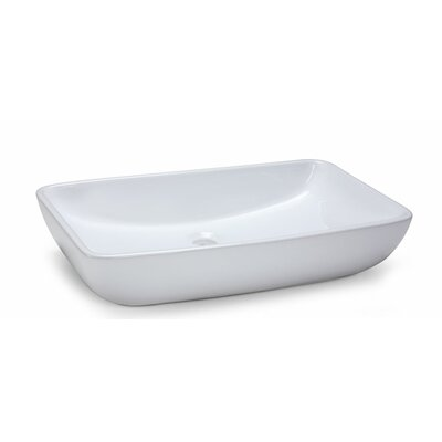 Vitreous China Rectangular Vessel Bathroom Sink