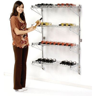 36 Bottle Wall Mounted Wine Rack