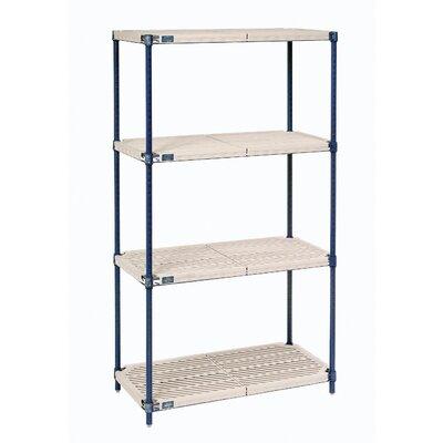 """Nexelite Plastic Mat 4 Shelf Shelving Unit Starter - Size: 74"""" H x 36"""" W x 24"""" D at Sears.com"""