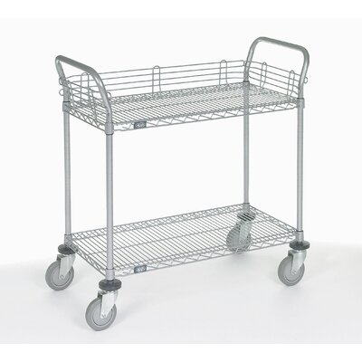 "Nexel 2 Shelf Utility Cart with Polyurethane Casters - Size: 39"" H x 48"" W x 24"" D at Sears.com"