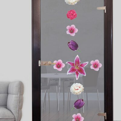 Image of Tulips Flowers Glass Sticker Set
