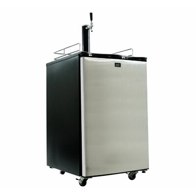 Single Tap Full Size Kegerator Finish: Stainless Steel KM2800SS