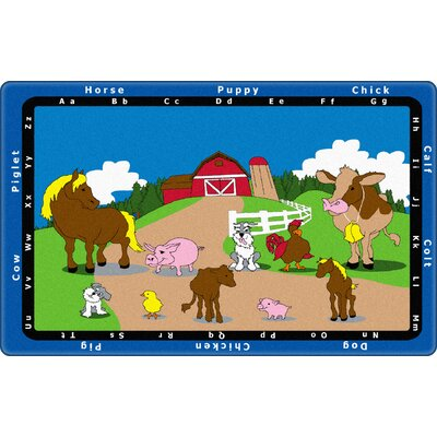 Animal Match Kids Rug Rug Size: Rectangle 6 x 9