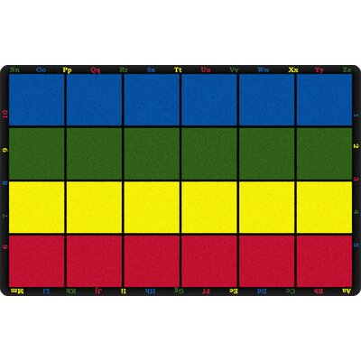 Learning Grid Kids Area Rug Rug Size: Rectangle 510 x 84