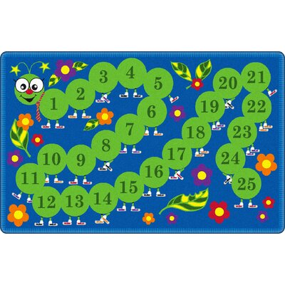 Counting Caterpillar Kids Rug Rug Size: Rectangle 76 x 12