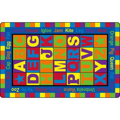 ABC Words Kids Rug Rug Size: Rectangle 76 x 12