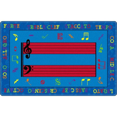 Fun with Music Kids Rug Rug Size: Rectangle 76 x 12
