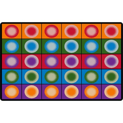 Dot Spots Red/Purple Area Rug Rug Size: Rectangle 76 x 12