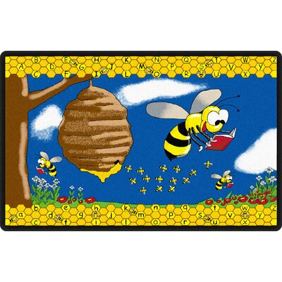 Busy Bee Yellow/Blue Area Rug