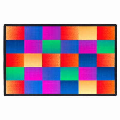 Glow Blocks Blue/Pink Area Rug