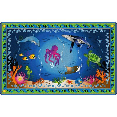 Into The Deep Blue Area Rug Rug Size: 6 x 84