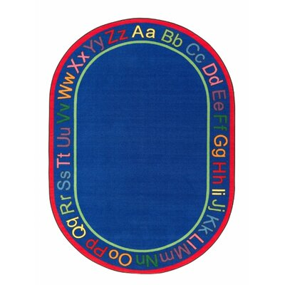 ABC Blue Area Rug Rug Size: Oval 109 x 132