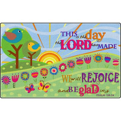 This Is The Day The Lord Has MadeGreen Area Rug