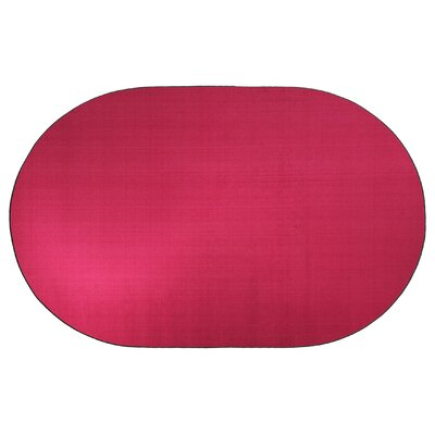 Americolors Cranberry Area Rug Rug Size: Oval 6 x 9