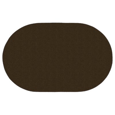 Americolors Chocolate Area Rug Rug Size: Oval 76 x 12