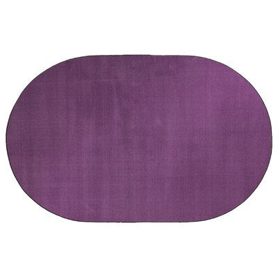 Americolors Pretty Purple Area Rug Rug Size: Oval 12 x 15
