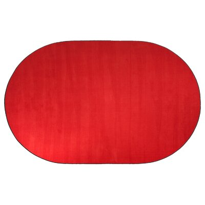 Americolors Rowdy Red Area Rug Rug Size: Oval 12 x 18