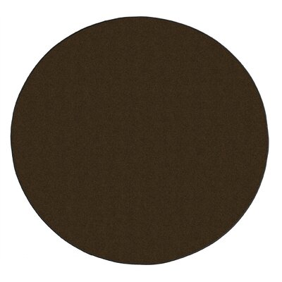 Americolors Chocolate Area Rug Rug Size: Round 12