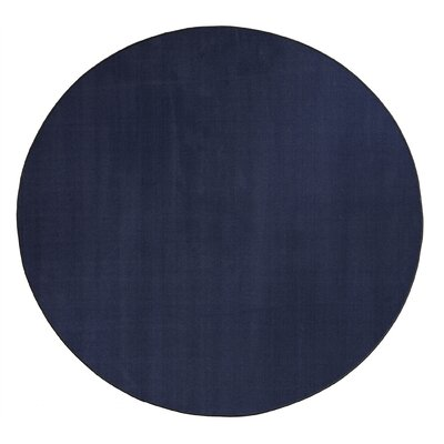 Americolors Navy Area Rug Rug Size: Round 12