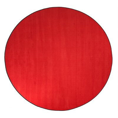 Americolors Rowdy Red Area Rug Rug Size: Round 12