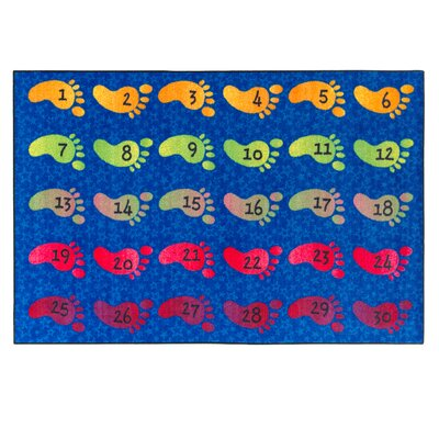 Counting Feet Kids Rug Rug Size: 4 x 6
