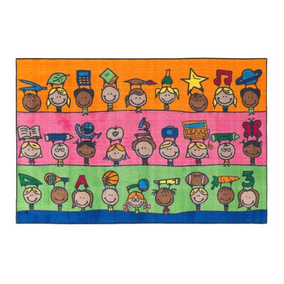 Fun at School Kids Rug Rug Size: 4 x 6