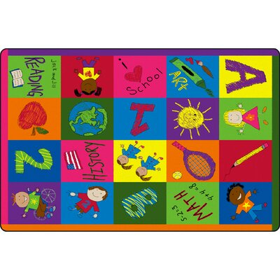 Primary Pictures Kids Rug Rug Size: 5 x 8