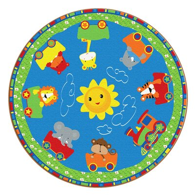 Cutie Train Kids Rug Rug Size: Round 10
