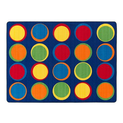 Sitting Spots Blue/Yellow Area Rug Rug Size: 6 x 84