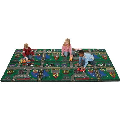 Flagship Carpets Educational Green Places To Go Area Rug - Rug Size: 6' x 9' at Sears.com