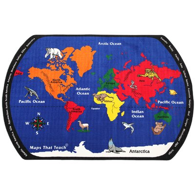 Maps That Teach Kids Rug Rug Size: 76 x 12
