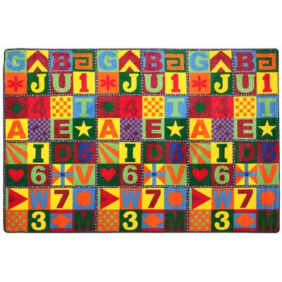 Educational Floors That Teach Area Rug Rug Size: 12 x 18