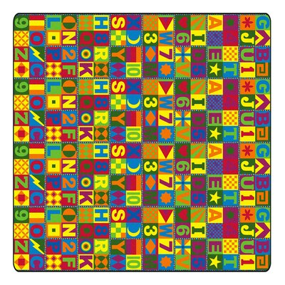 Educational Floors That Teach Area Rug Rug Size: Square 12