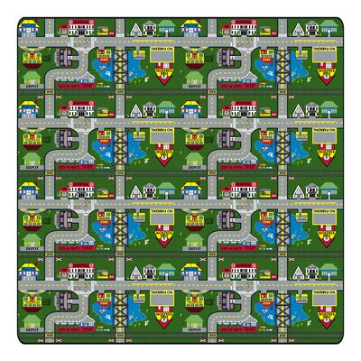 Educational Green Places To Go Area Rug Rug Size: Rectangle 12 x 15