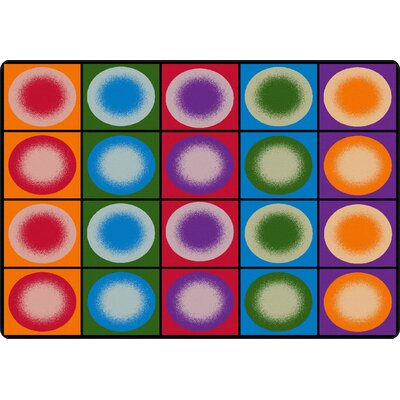Dot Spots Red/Purple Area Rug Rug Size: Rectangle 510 x 84
