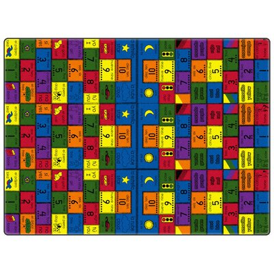Educational Amigos Area Rug Rug Size: Rectangle 6 x 12