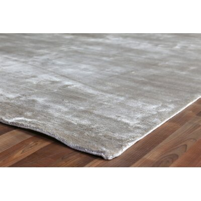 Softest Touch Hand Woven Silk Beige Area Rug Rug Size: Rectangle 8 x 10
