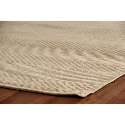 Herringbone Light Beige Area Rug