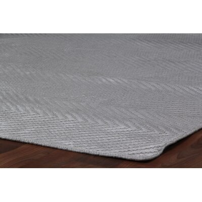 Hand Woven Silk Aqua Area Rug Rug Size: Rectangle 5 x 8
