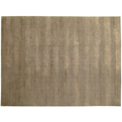 Herringbone Stitch Dark Khaki Area Rug Rug Size: 8 x 10
