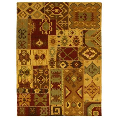 Patchwork Flat Weave Area Rug Rug Size: 96 x 136